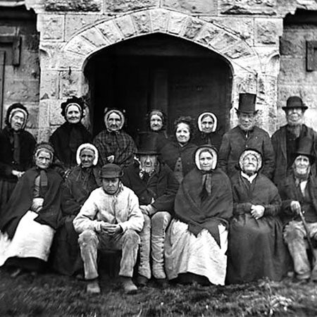 Residents of Llan-rhudd almshouses, Rhuthun, North Wales